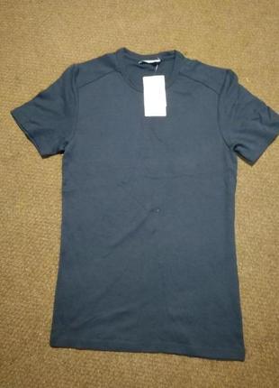 Мужская футболка темно-синего цвета, новая, размер m, фирма c&a