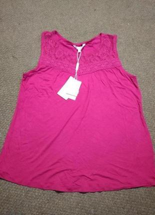 Блуза майка женская, размер m, цвет малиновый насыщенный, новая