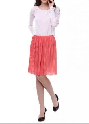 Новая плиссированная трикотажная юбка , р. s-м