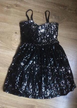 Шикарное нарядное платье с пайеткаии от cool cat