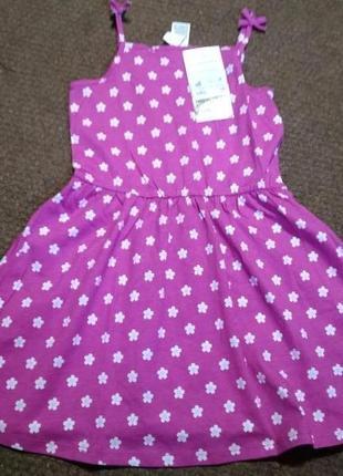 Летнее платье сарафан для девочки на рост 116см, новое, фирма c&a