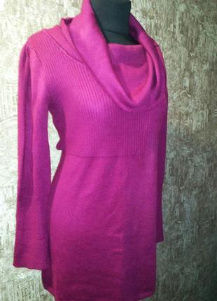 Стильный классный удлиненный свитер- платье, размер 50-52