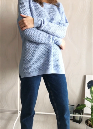 Вязанный свитер с круглым воротом isle essentials3 фото