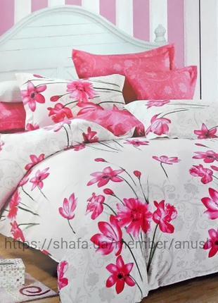 Постельное белье из сатина pink blossom