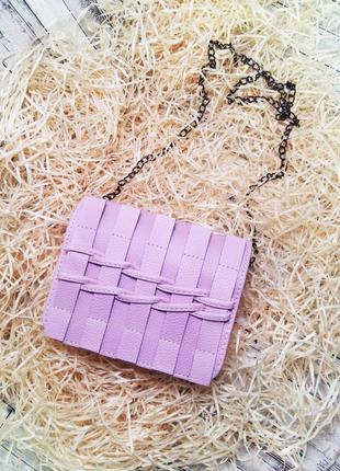 Женская сумочка кросс-боди, клатч, металлическая цепочка через плечо