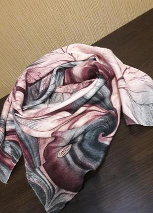💋роскошный шерстяной 80% турецкий платок пудра графит