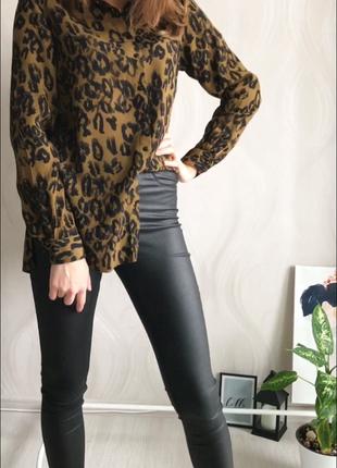 Шифоновая блуза в анималистический принт new look3