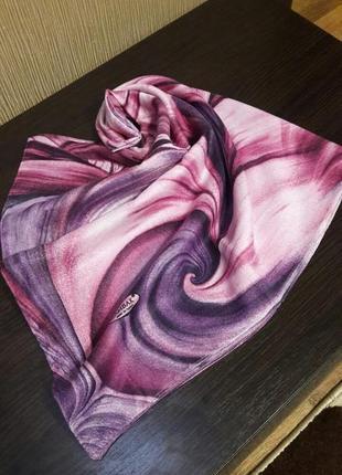 🌸роскошный шерстяной 80%турецкий платок фиолетовый сирень