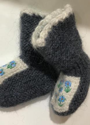 Пинетки-носочки из шерсти мериноса