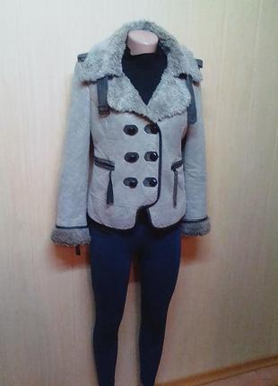 Шикарная,брендовая куртка,полу пальто,жакет,пальтишко.44р.от бренда miss sixty.