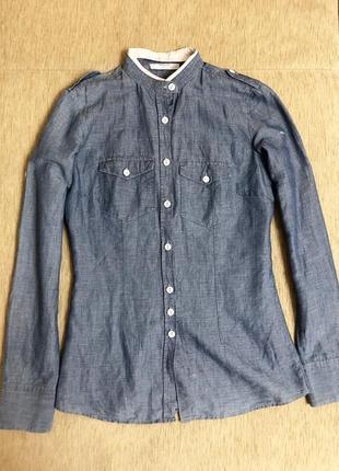 Сорочка з м'якої тканини під джинс. розмір s