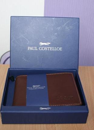Брендовый кожаный портмоне кошелек paul costelloe