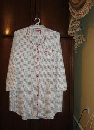 Рубашка-халат tu, 100% хлопок, размер 22