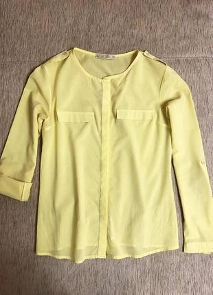 Лимонна сорочка. розмір m