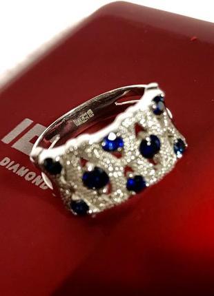 Золотое кольцо с сапфирами 💍  «16,5»