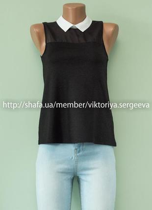 Большой выбор блуз - стильная красивая блуза с контрастным воротником