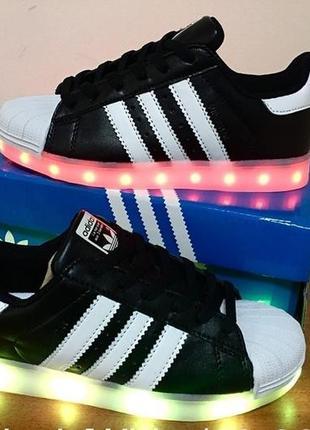 Кроссовки кеды ботинки led! лучший подарок!