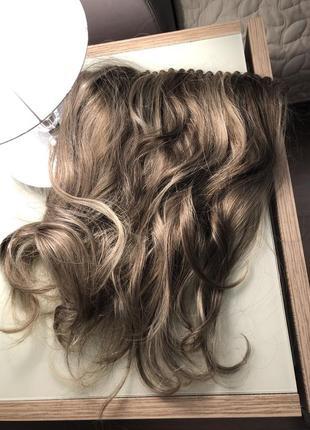 Прицепной шиньон из натуральных волос
