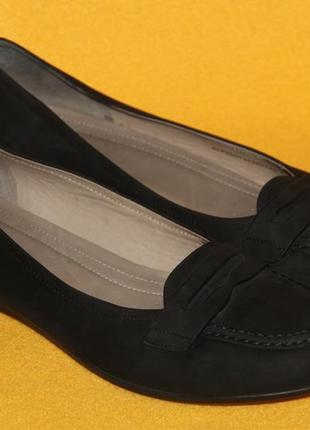 Балетки, туфли, мокасины ecco р.41 стелька 26,5 см