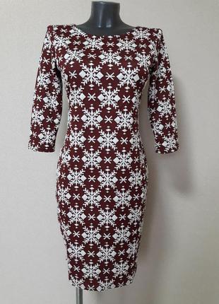 Стильное,деловое,эффектное трикотажное платье-мини ambitionfly с рукавом по локоть