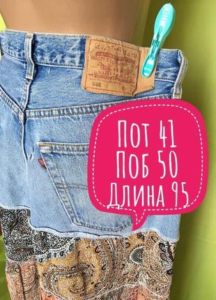 Модная ярусная джинсовая юбка levis 48 p5