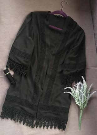 Красивенный вискозный халат new look с кружевом