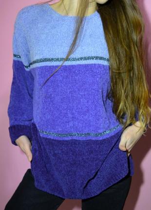 Велюровый свитер ,свитер плюш carolyn taylor