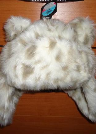 Меховая шапка с ушками mark& spencer на 3-6 лет рысь.