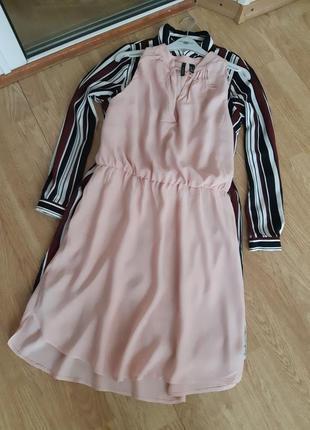 Платье цвета пудры от mango