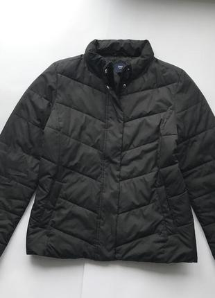 Оригинальная свободная легкая чёрная куртка gap / дутик / чёрная курточка осень-весна