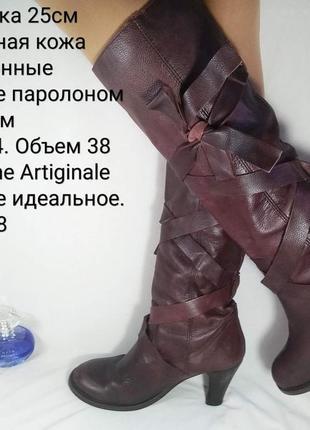 ❣кожаные сапоги lavorazione artigianale на каблуке❣