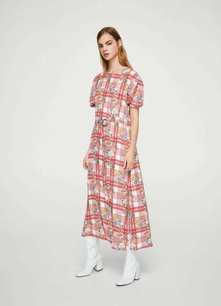 Платье миди mango rosso. оригинал, испания