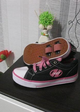 Hellys колоботы роликовые кроссовки на колесиках скейт ролики 35-36