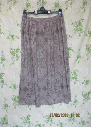 Легкая летняя юбка с разрезами/вискоза