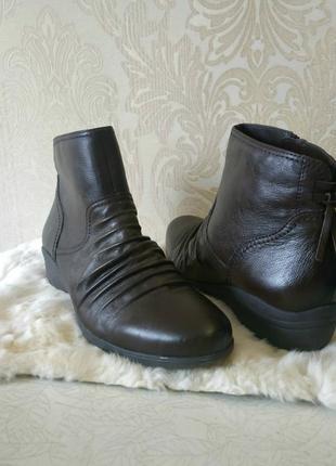 Кожаные ботинки цвета шоколад от footglove 41-42