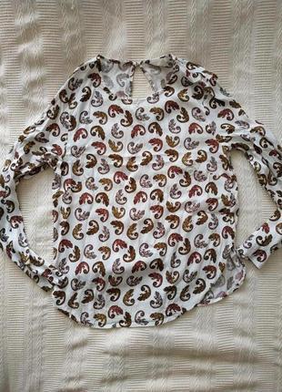 Обнова! блузочка с интересным принтом