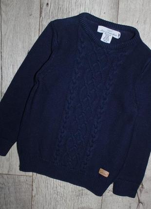 Свитер темно синий джемпер кофта h&m 4-6 лет, рост 104-116 см.