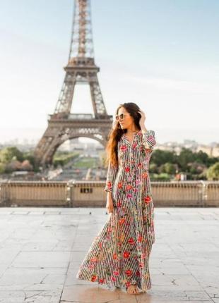 Трендовое платье рубашка с цветочным принтом zara premium collection