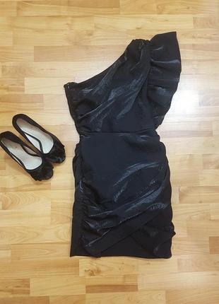 Новое шикарное вечернее / коктейльное платье h&m на одно плечо ! xs/s