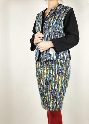 Винтажный шерстяной костюм: юбка+жакет