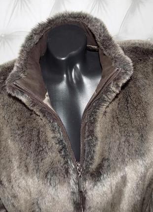 Меховая куртка на молнии, авто-леди7 фото