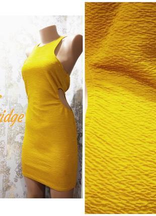 Gb 10/eur 38 облегающее бандажное платье с вырезами и молнией на спинке miss selfridge