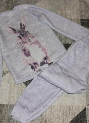 Теплая пижама f&f на 7-8 лет рост 128 см