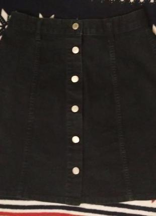 Стильная юбка с пуговицами