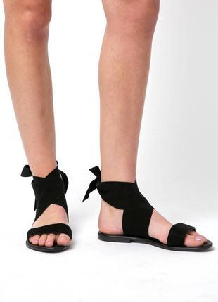 Seychelles черные сандалии на завязках замшевые  бренд из сша