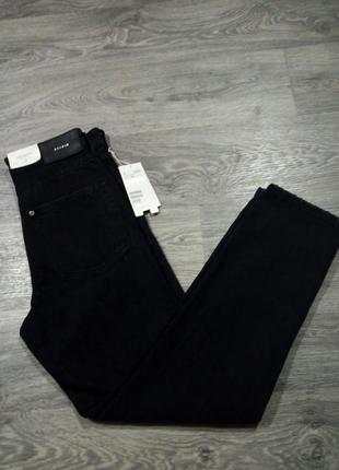 Черные джинсы бойфренды с высокой талией boyfriend vintage fit