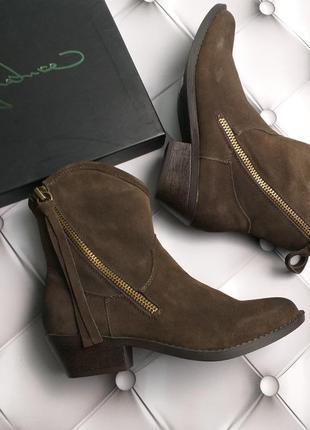 Report signature оригинал замшевые сапожки коричневые на молнии бренд из сша