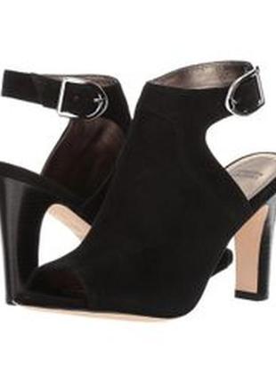 Johnston & murphy оригинал черные замшевые босоножки на широком каблуке бренд из сша3 фото