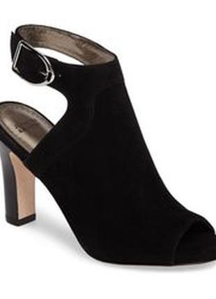 Johnston & murphy оригинал черные замшевые босоножки на широком каблуке бренд из сша2