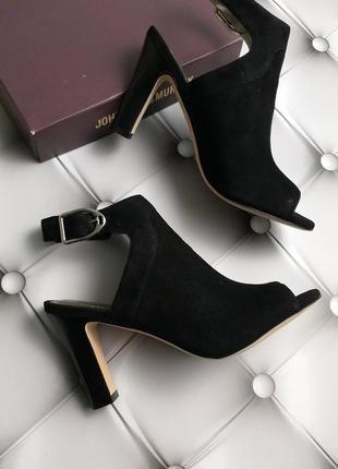 Johnston & murphy оригинал черные замшевые босоножки на широком каблуке бренд из сша